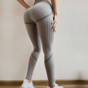 LEGGINGS High Waist Seamless Leggings - Scrunch Butt - EK CHIC