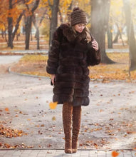 Load image into Gallery viewer, FUR COAT Suit Collar Fox Fur Coat - EK CHIC