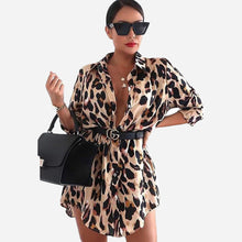 Load image into Gallery viewer, TOPS Leopard Print Dress Shirt - EK CHIC