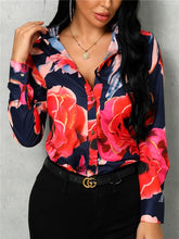 Load image into Gallery viewer, TOPS Floral Print Long Sleeve Casual Shirt - EK CHIC