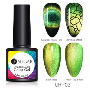 NAIL GEL 9D Galaxy Cat Eye Nail Gel Chameleon Magnetic Soak Off - EK CHIC