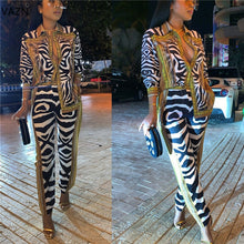 Load image into Gallery viewer, LEOPARD Vintage  Chiffon 2 Piece Set - EK CHIC