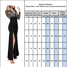 Load image into Gallery viewer, DRESS Evening Party Dress - Lace Backless Floor Length - EK CHIC