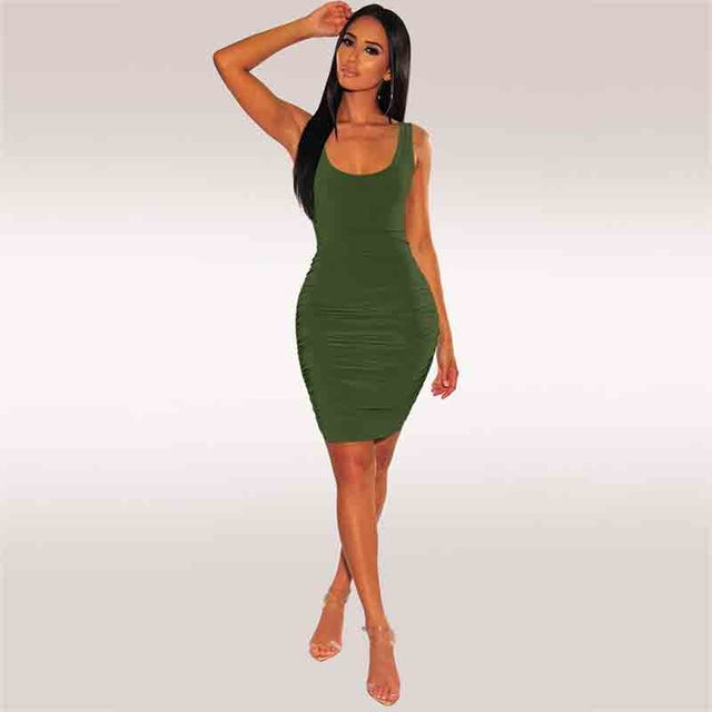 DRESS Backless Hollow Out Slim Bodycon Dress - EK CHIC