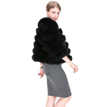 Load image into Gallery viewer, FUR COAT Short Genuine Fox Fur Coat - EK CHIC