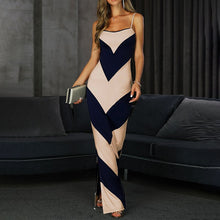 Load image into Gallery viewer, Striped Sling High Waist Dress - EK CHIC
