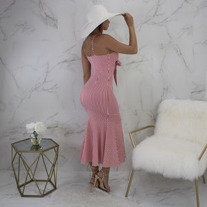 DRESS Spaghetti Strap Dress Off Shoulder Backless Dress - EK CHIC