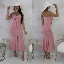 Load image into Gallery viewer, DRESS Spaghetti Strap Dress Off Shoulder Backless Dress - EK CHIC