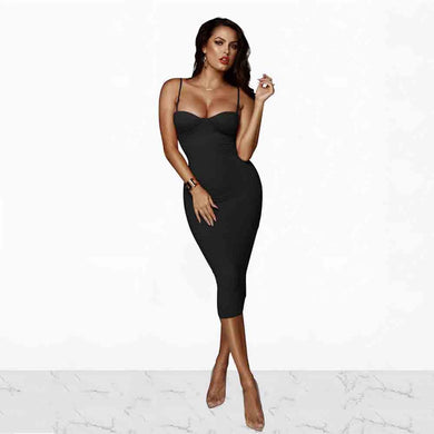 DRESS Spaghetti Strap Elegant Sling Pencil Dress - EK CHIC