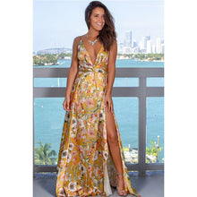 Load image into Gallery viewer, DRESS Floor-Length Spaghetti Strap V-Neck Maxi Dress - EK CHIC