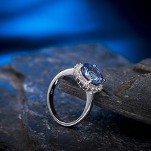 Load image into Gallery viewer, JEWELRY Diamond Tanzanite - Solid 18Kt White Gold - Engagement Ring - EK CHIC