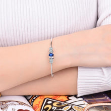 Load image into Gallery viewer, 18K White Gold Natural Sapphire  Diamond  Bangle - EK CHIC