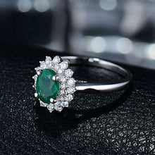 Load image into Gallery viewer, JEWELRY Solid 14K White Emerald Diamond Gold - EK CHIC