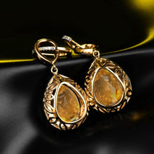 Load image into Gallery viewer, JEWELRY 14K Yellow Gold Natural Citrine Earrings - EK CHIC