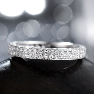 JEWELRY Natural Diamond Engagement Ring Band Ring In 14kt White Gold - EK CHIC