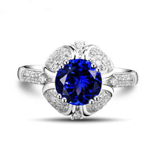 Load image into Gallery viewer, Natural Tanzanite In Solid 18Kt White Gold Engagement Ring - EK CHIC