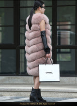 Load image into Gallery viewer, FUR COAT Natural Fox Fur Long Vest - EK CHIC