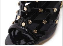 Load image into Gallery viewer, BOOTS Sexy Rivets Studded Thigh High Gladiator Sandals - EK CHIC