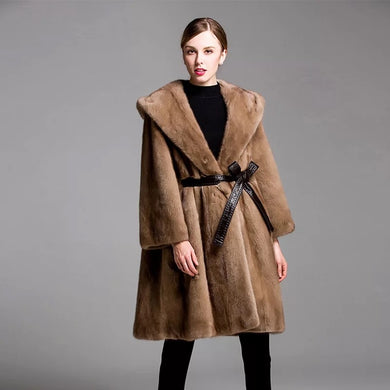 Luxury Natural Mink Fur Coat - EK CHIC