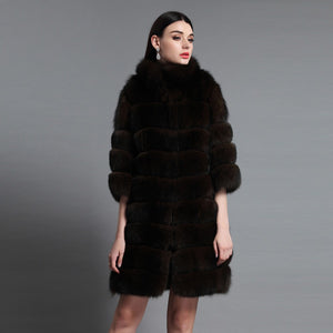 Luxury  Genuine Sable  Fur Coat - EK CHIC