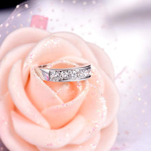 Load image into Gallery viewer, 18K White Gold & Diamond Wedding/ Anniversary Ring Band - EK CHIC