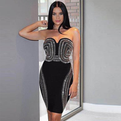 DRESS Celebrity Party Bandage Dress - EK CHIC