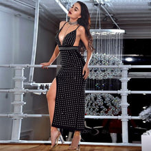 Load image into Gallery viewer, DRESS Celebrity Black Spaghetti Strap Backless Dress - EK CHIC