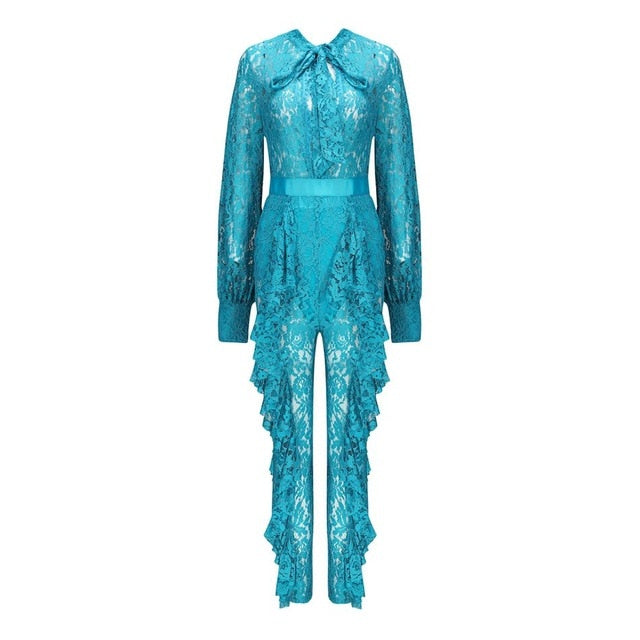 JUMPSUIT Hot Sale Celebrity Lace Jumpsuit - EK CHIC