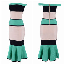 Load image into Gallery viewer, Bandage  Off The Shoulder Slash Neck Mermaid  Dress - EK CHIC