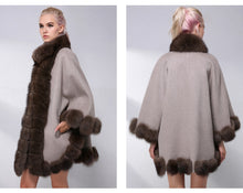 Load image into Gallery viewer, FUR Luxury Natural Fur Coat With Real Fox Fur - EK CHIC