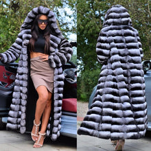 Load image into Gallery viewer, Long Chinchilla Fur Coat - EK CHIC