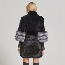 Load image into Gallery viewer, FUR Luxury Natural Rabbit & Fox Coat - EK CHIC