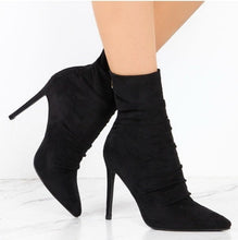 Load image into Gallery viewer, Pointed Toe High Heels Boots - EK CHIC