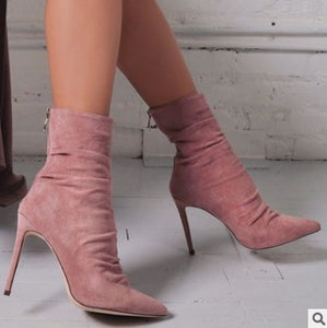 Pointed Toe High Heels Boots - EK CHIC