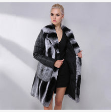 Load image into Gallery viewer, Chinchilla Fur Coat With Detachable Down Sleeves - EK CHIC