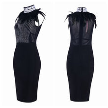 Load image into Gallery viewer, Fashion Celebrity Bandage Black Dress - EK CHIC