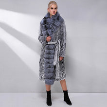 Load image into Gallery viewer, Fox Fur Collar Wool Blends Coat - EK CHIC