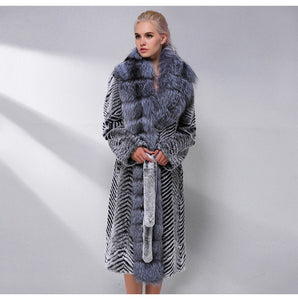 Fox Fur Collar Wool Blends Coat - EK CHIC