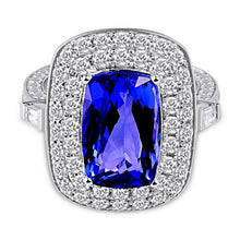 Load image into Gallery viewer, JEWELRY Royal Wedding Rings 18K White Gold Tanzanite Engagement Ring - EK CHIC