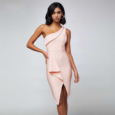 One-Shoulder Sexy Night Out Club Dress - EK CHIC