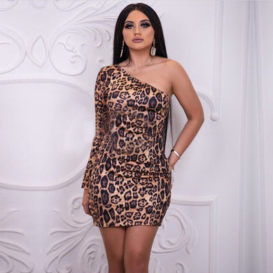 DRESS Leopard Celebrity Party Bodycon Dress - EK CHIC