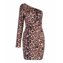 Load image into Gallery viewer, DRESS Leopard Celebrity Party Bodycon Dress - EK CHIC