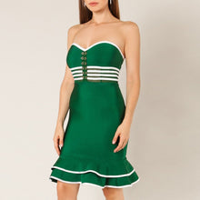 Load image into Gallery viewer, Green Strapless Sexy Night Out Dress - EK CHIC