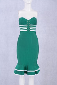 Green Strapless Sexy Night Out Dress - EK CHIC