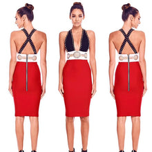 Load image into Gallery viewer, DRESS Sexy V Neck Plunge Bodycon Bandage Dress - EK CHIC
