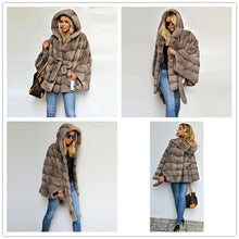 Load image into Gallery viewer, FUR Luxury Natural Real Mink Fur Coat With Belt Stand Collar - EK CHIC