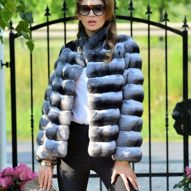 Luxury Chinchilla Fur Coat - EK CHIC