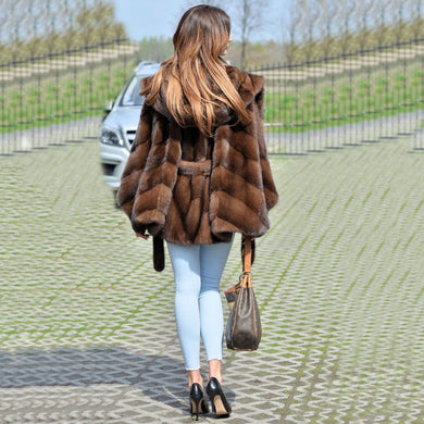 FUR Real Mink Fur Coat - EK CHIC