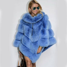 Load image into Gallery viewer, FUR LUXURY Natural Fox FUR PONCHO - EK CHIC