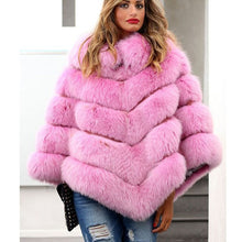 Load image into Gallery viewer, LUXURY Natural Fox FUR PONCHO - EK CHIC